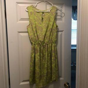 Charming Charlie green dress